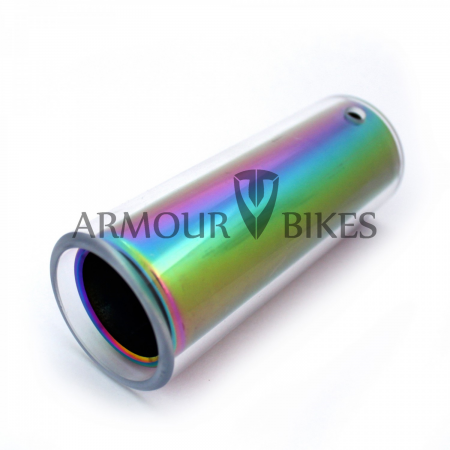 Armour bikes Atomic Alu 7075-T6 Oil Slick peg with polycarbonate sleeve